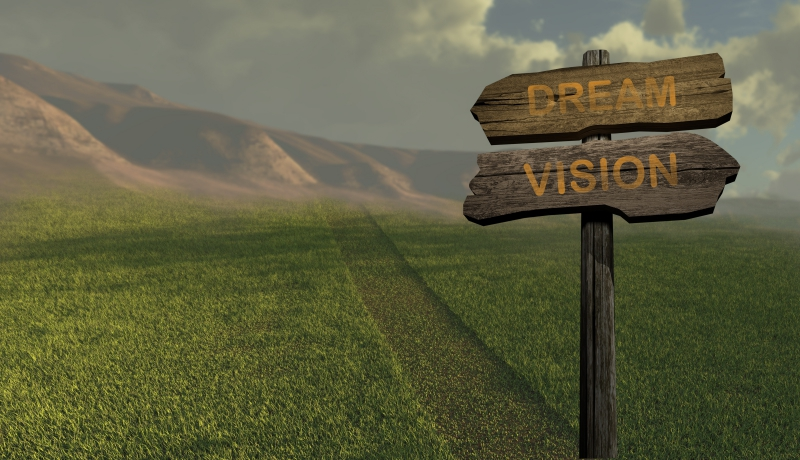 sign direction DREAM - VISION made in 3d software